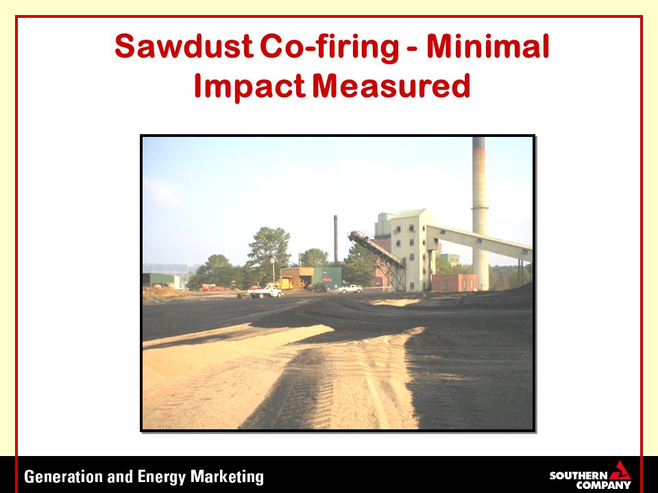 Sawdust Co-firing - Minimal Impact Measured