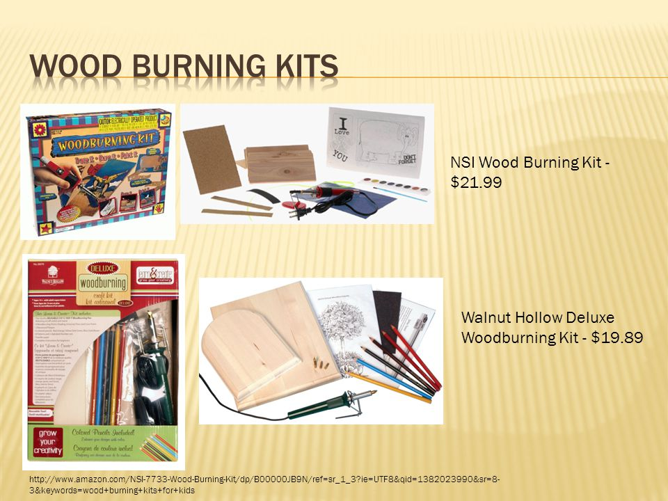  Wood ornament (48)- $11.99  Burner pen- $9.35  Colored pencils- $1.94 http://www.amazon.com/Unfinished-Wooden-Christmas-Ornaments-Pack/dp/B002LH3NQS/ref=sr_1_3?ie=UTF8&qid=1382031881&sr=8- 3&keywords=wood+ornaments