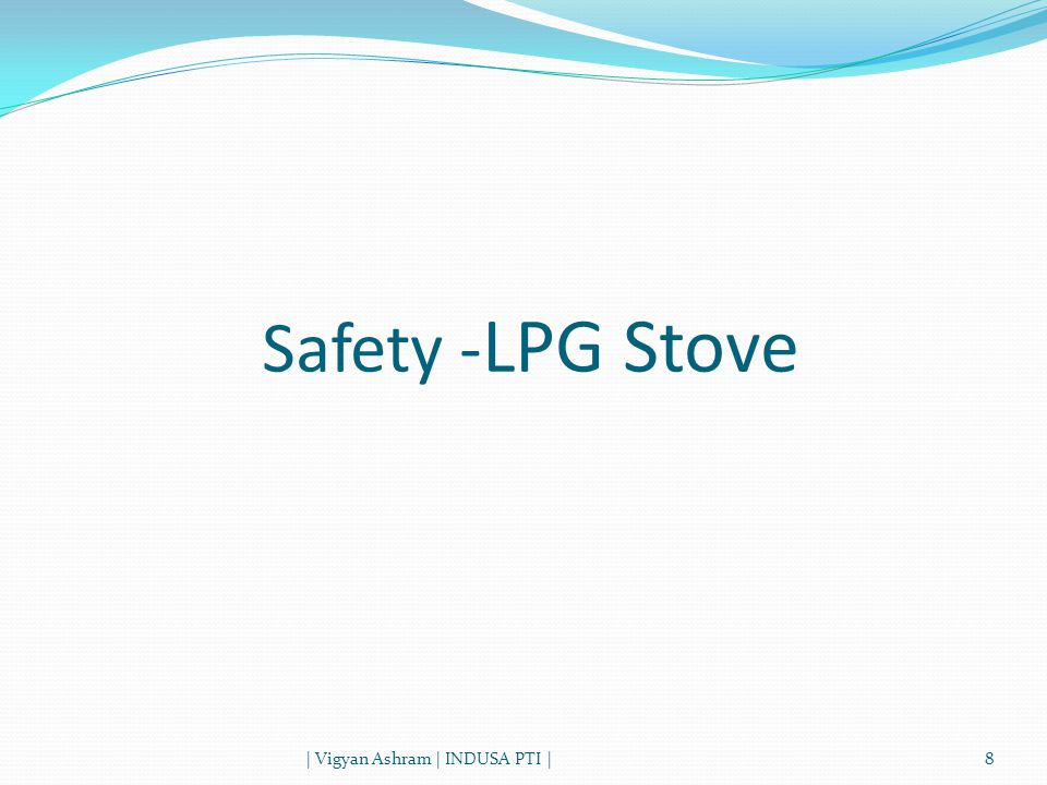 8 Safety - LPG Stove