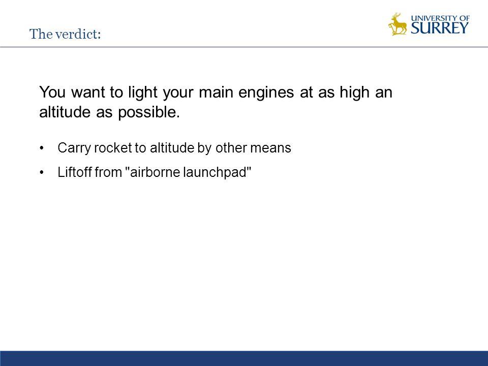 Combined cycle propulsion One option Flight Mach number Turbojet Ramjet Scramjet Rocket