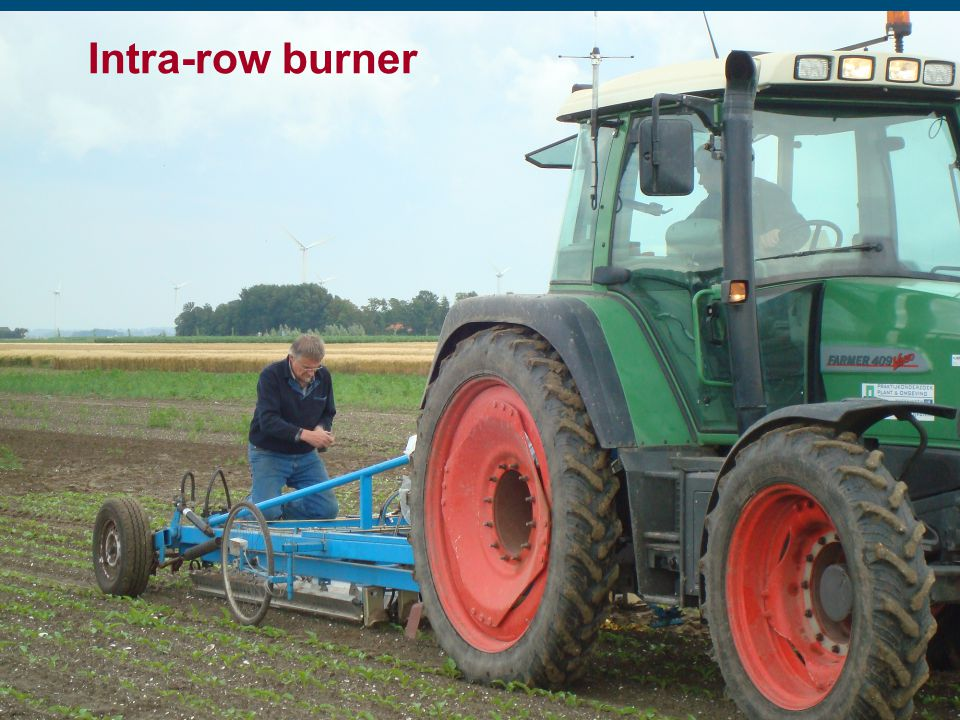 Intra-row burner