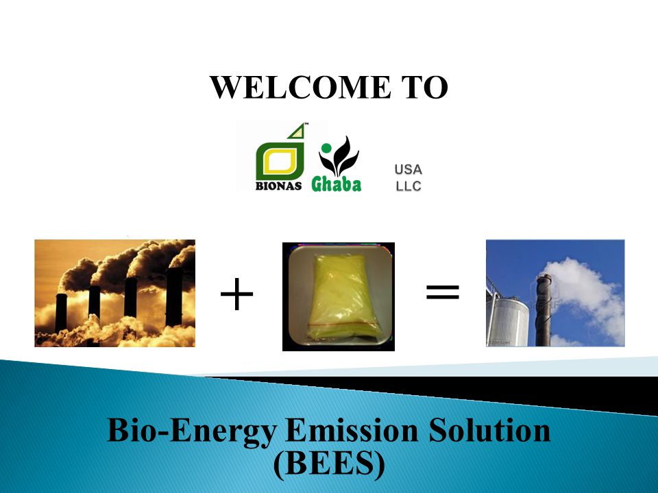 Bio-Energy Emission Solution (BEES) WELCOME TO + =
