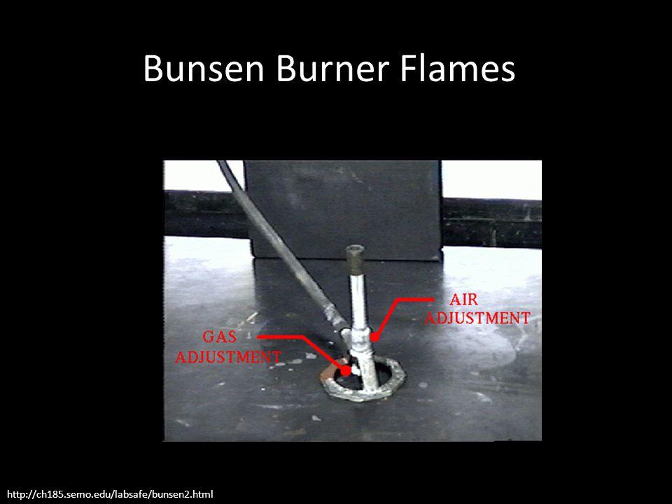 http://ch185.semo.edu/labsafe/bunsen2.html Bunsen Burner Flames