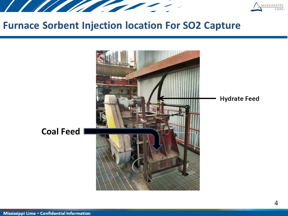 Mississippi Lime – Confidential Information 15 Waste Coal CFB Summary Hydrated lime can achieve MATS compliance in EITHER HCl or SO 2.