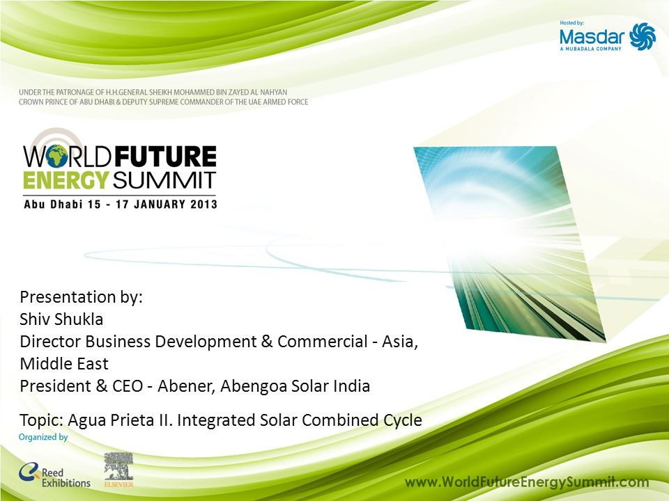 Index Presentation for: Agua Prieta II case study Thermosolar technologies for ISCC integration What is an ISCC plant.