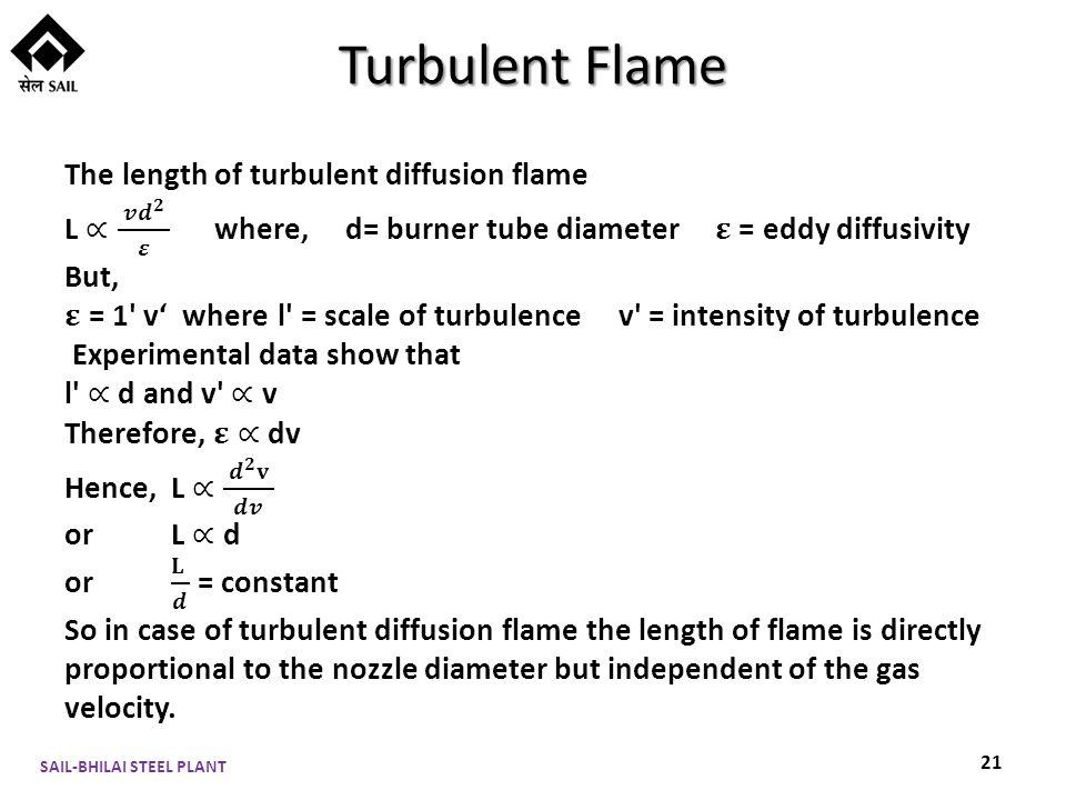 Turbulent Flame SAIL-BHILAI STEEL PLANT 21