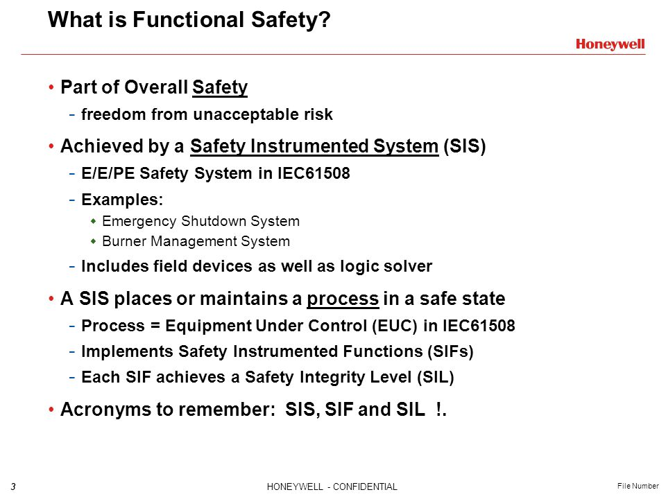 14HONEYWELL - CONFIDENTIAL File Number Case Study: 3 Design after HazOp Is Risk acceptable?