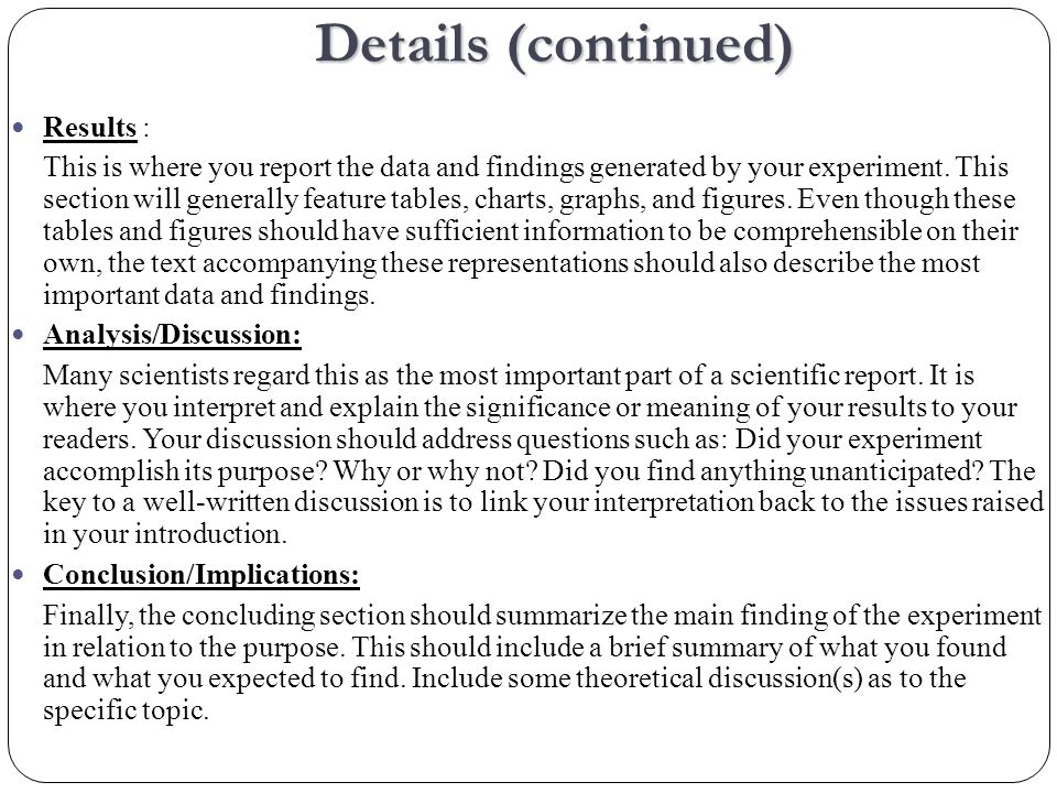 The lab report should be typed, using 12 pt.Times New Roman font.