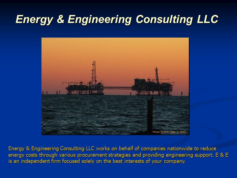 E & E Bio Energy & Engineering Consulting LLC has supplied our clients with essential energy and engineering services since 2001.