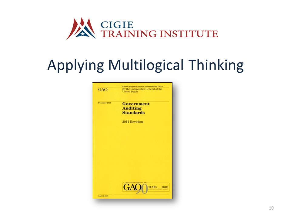 Applying Multilogical Thinking 10