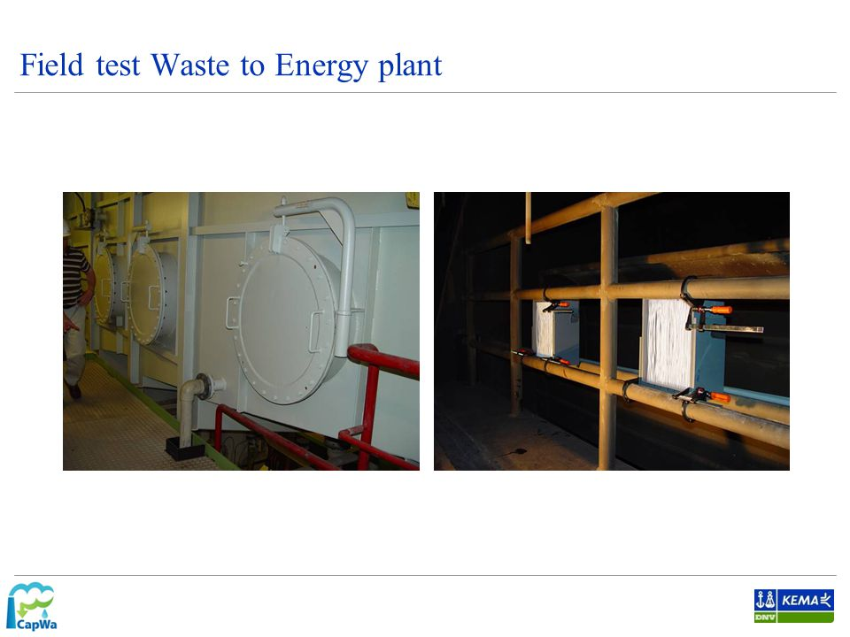 Field test Waste to Energy plant