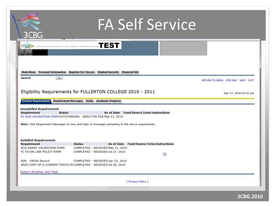 FA Self Service
