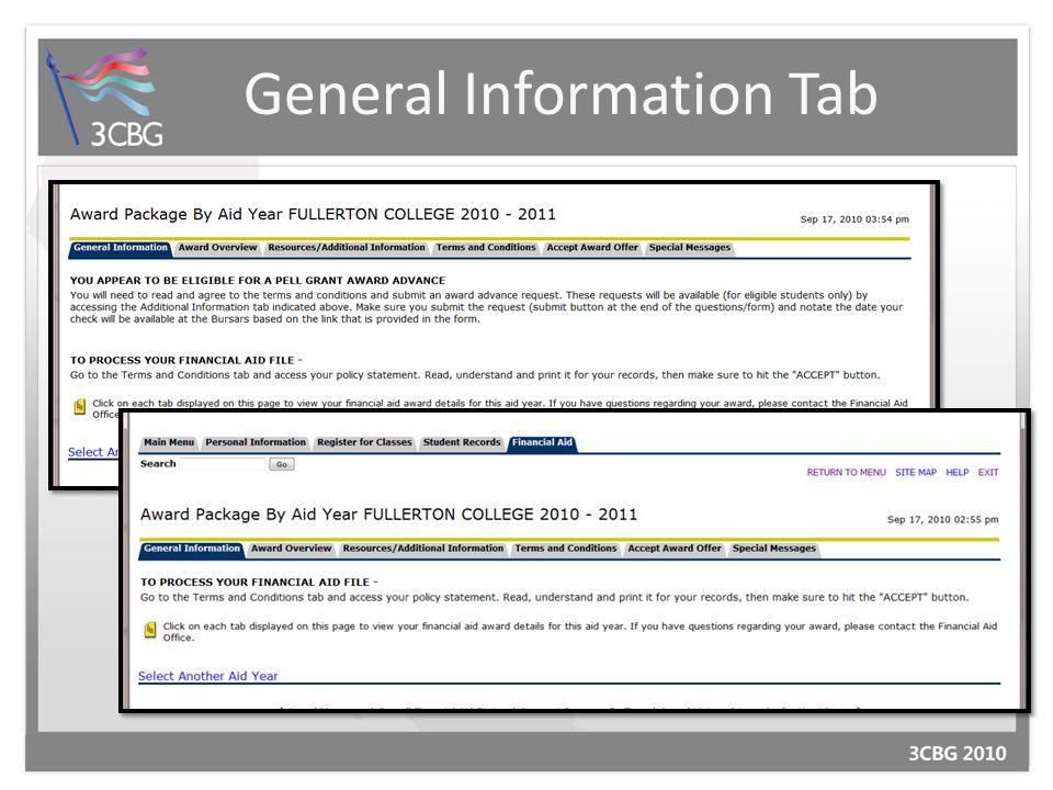 General Information Tab