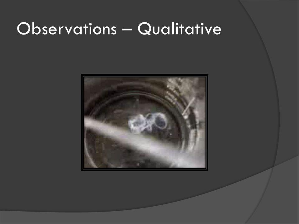 Observations – Qualitative