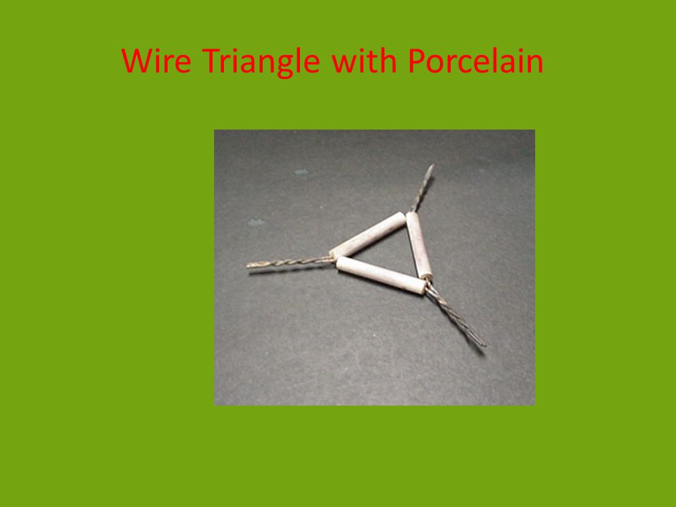Wire Triangle with Porcelain