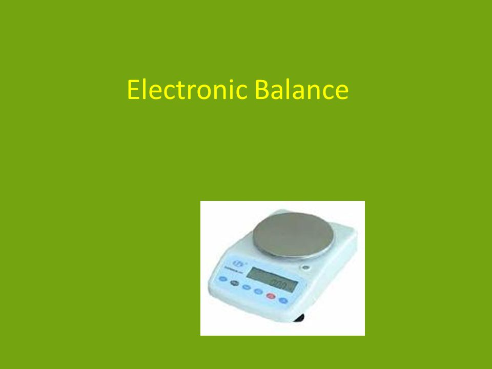 Electronic Balance