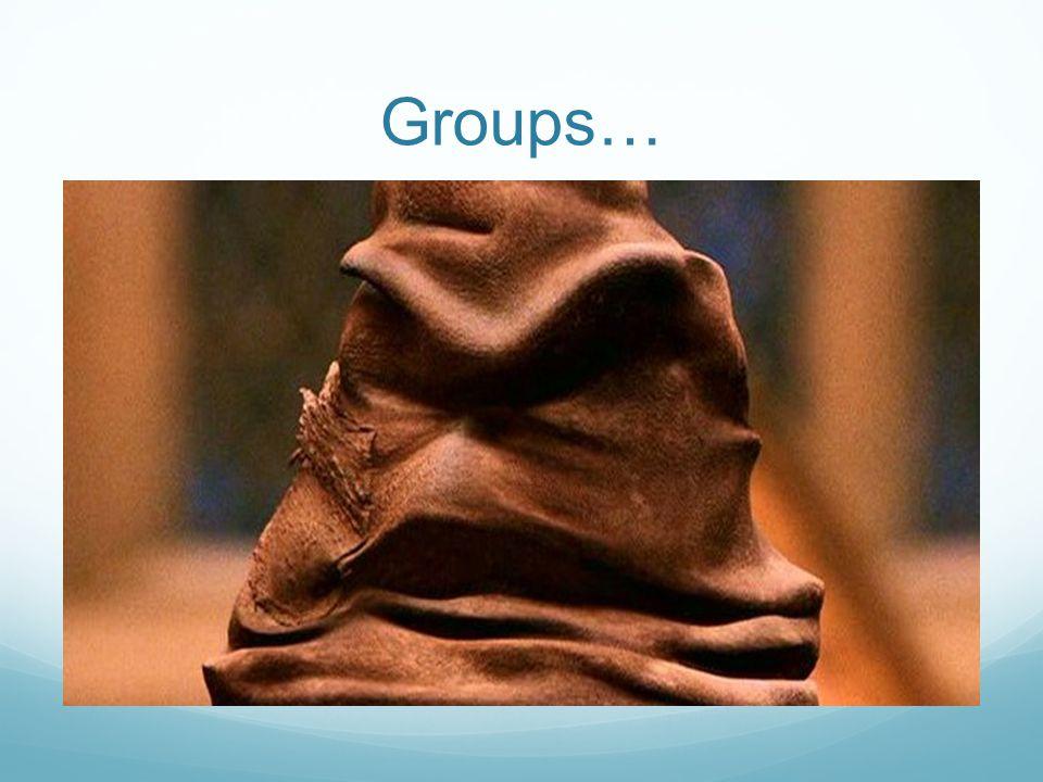 Groups…