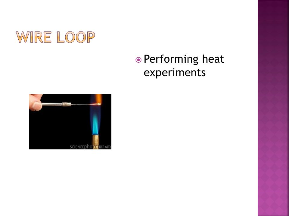  Performing heat experiments