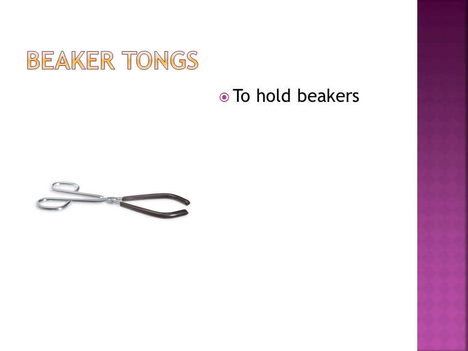  To hold beakers