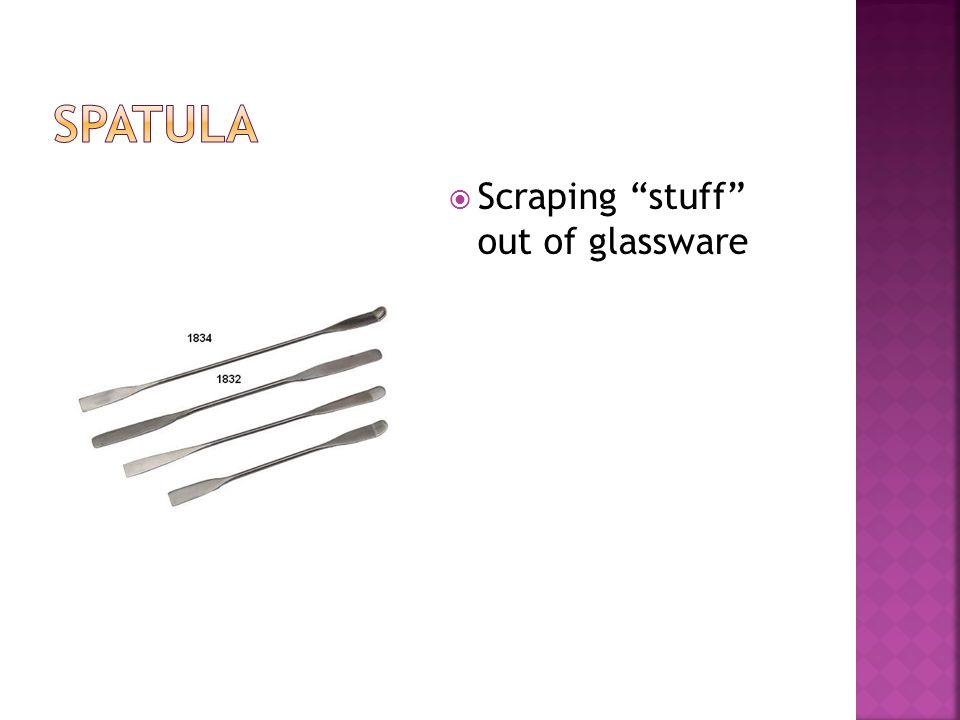  Scraping stuff out of glassware