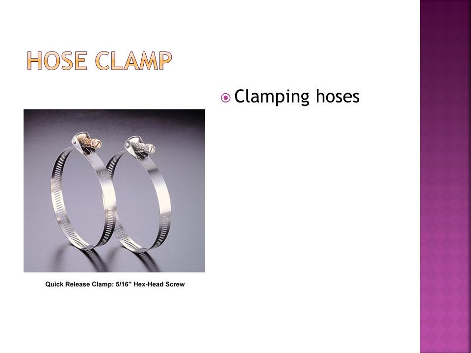  Clamping hoses