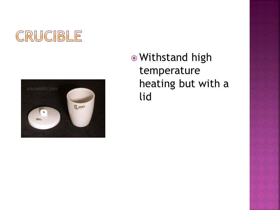  Withstand high temperature heating but with a lid