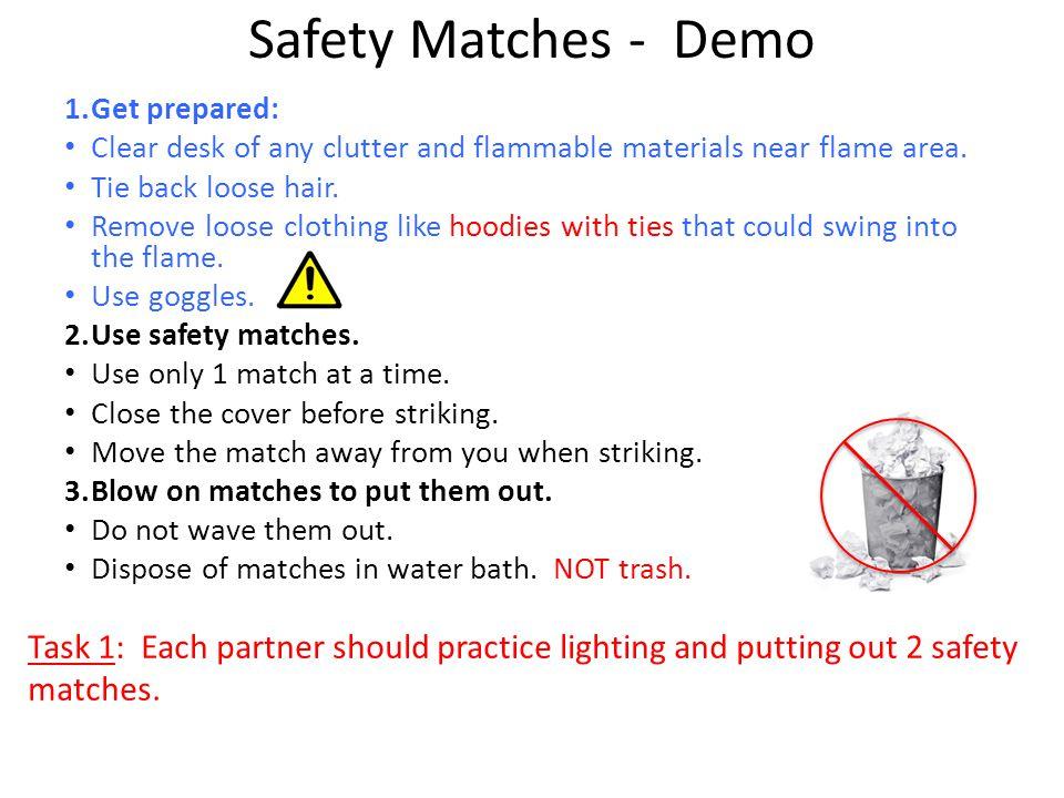 Safe Acid Handling Demo 1.Use goggles and gloves.