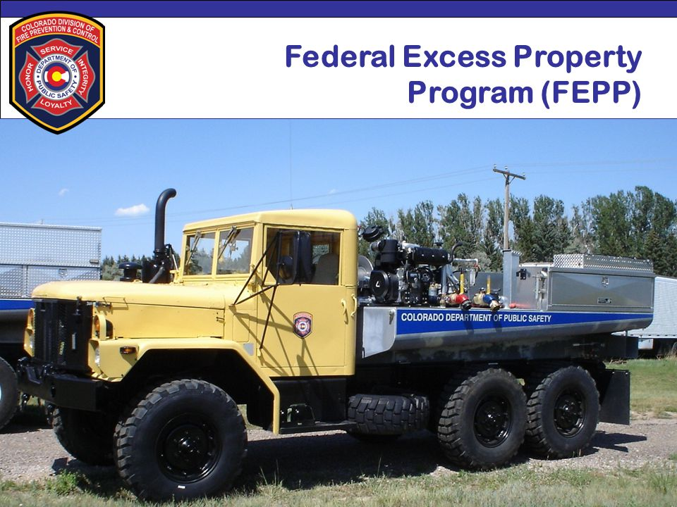 Special District Association of Colorado2012 Conference Federal Excess Property Program (FEPP)