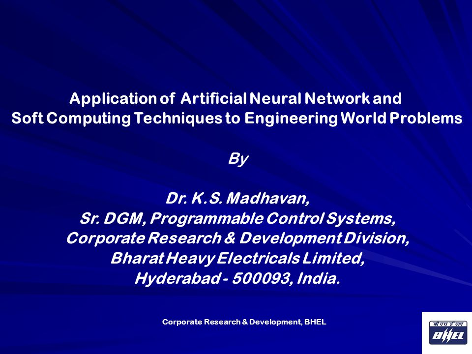 Artificial Neural Network and its Applications Most research papers on neural networks deal with the training aspect  but  we will not