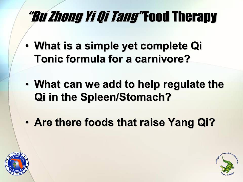 """""""Bu Zhong Yi Qi Tang"""" Food Therapy What is a simple yet complete Qi Tonic formula for a carnivore?What is a simple yet complete Qi Tonic formula for a"""