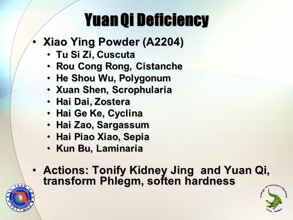 Yuan Qi Deficiency Xiao Ying Powder (A2204)Xiao Ying Powder (A2204) Tu Si Zi, CuscutaTu Si Zi, Cuscuta Rou Cong Rong, CistancheRou Cong Rong, Cistanch