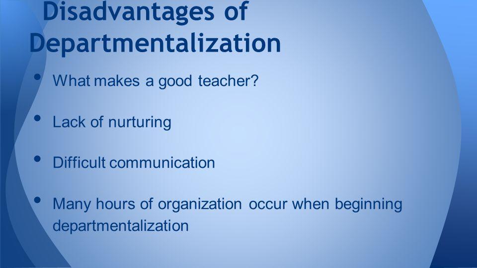 What makes a good teacher.