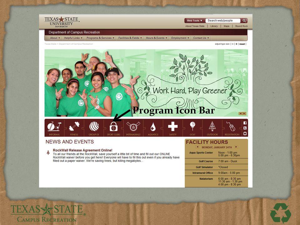 Program Icon Bar