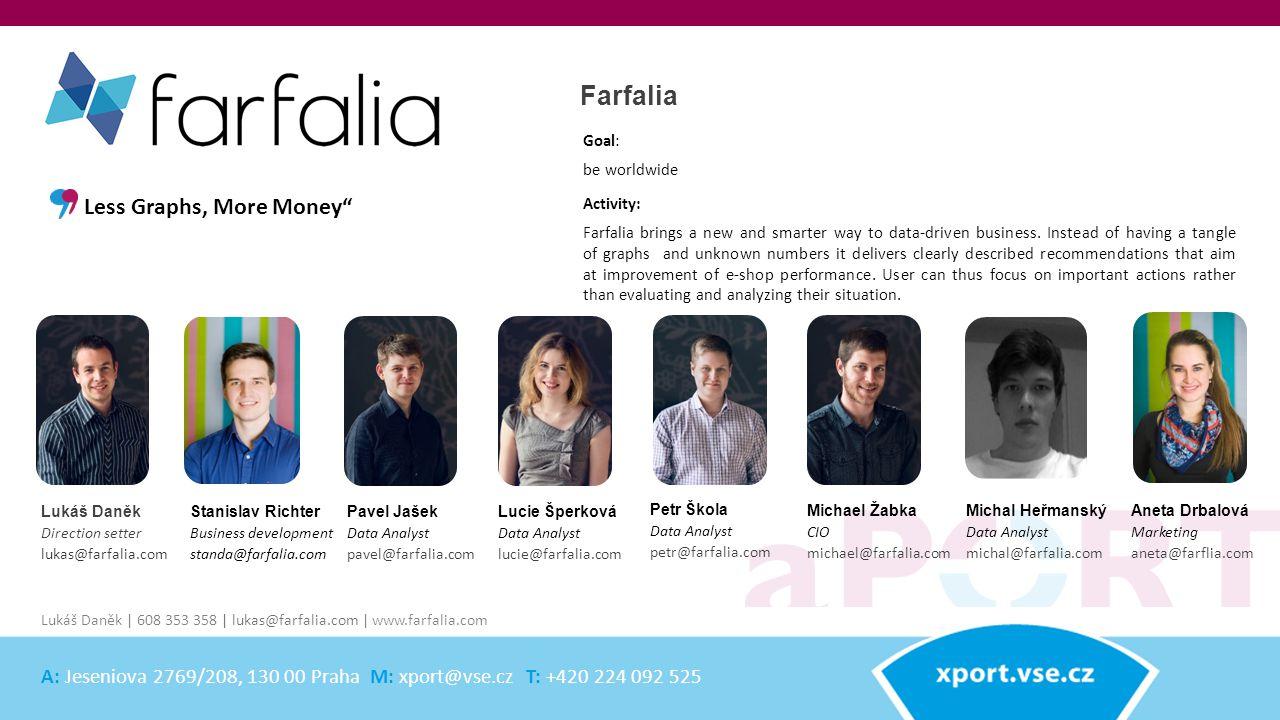 Stanislav Richter Business development standa@farfalia.com Farfalia Activity: Farfalia brings a new and smarter way to data-driven business.