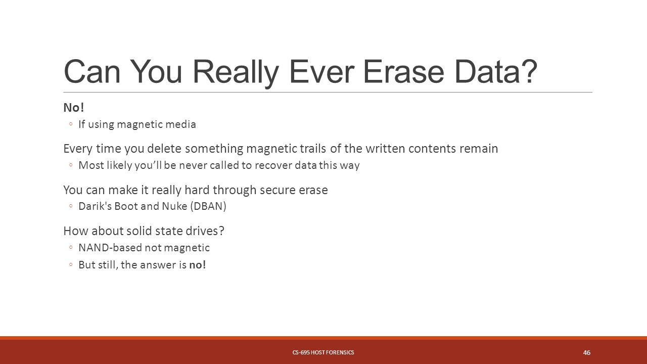 Can You Really Ever Erase Data.No.
