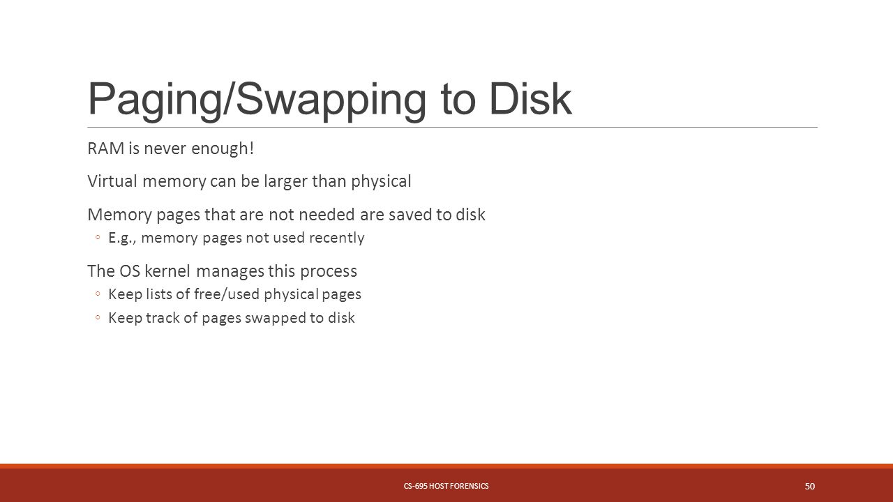Paging/Swapping to Disk RAM is never enough.