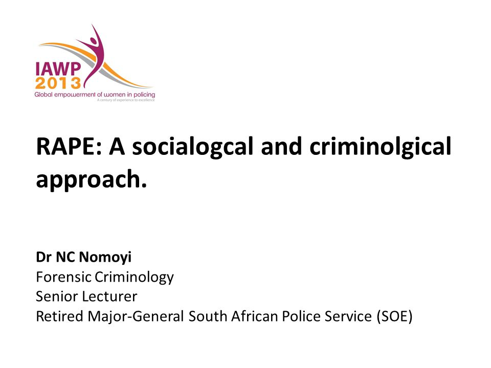 RAPE: A socialogcal and criminolgical approach.