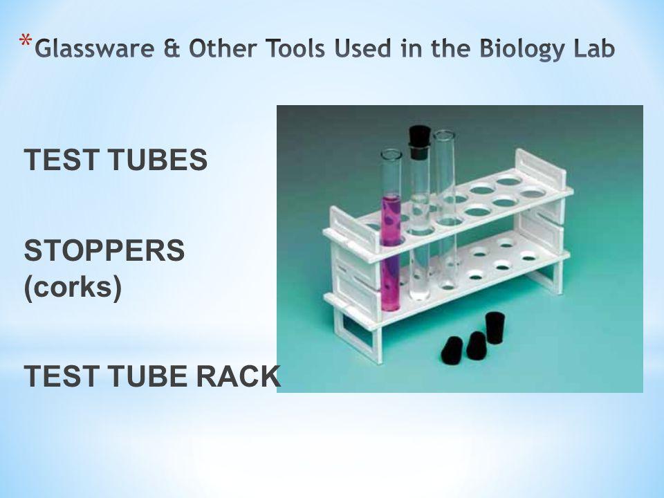 TEST TUBES STOPPERS (corks) TEST TUBE RACK