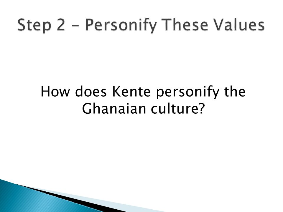 How does Kente personify the Ghanaian culture