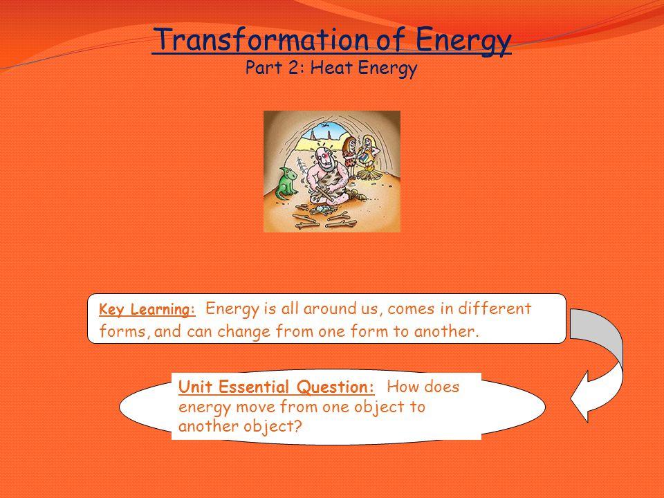 Concept: Heat Energy Lesson Essential Questions: 1.