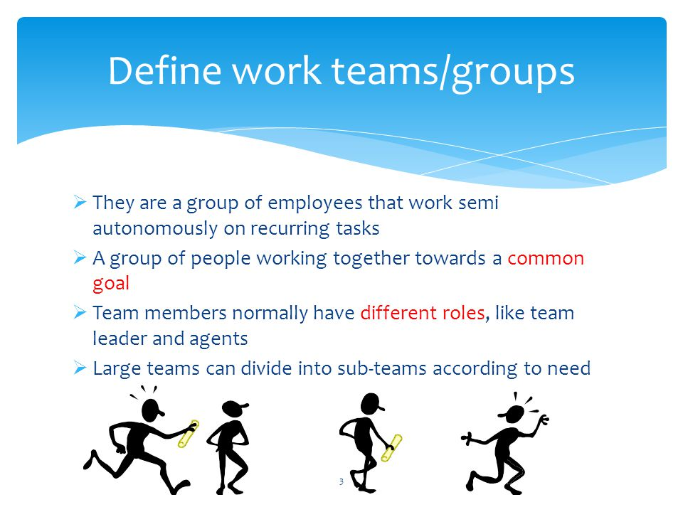  Two heads are better than one  Tasks are shared out to individuals dependant on strengths and weaknesses within the team  Including all team members in brainstorming sessions will enable a solution to be found  Teamwork provides a bonding for the group  They will generally go the extra mile and support their fellow team members in order for the goal to be met  Teamwork can also reduce absence in the workplace as people are more focused and motivated to achieve their goal Advantages of working in groups or teams 14