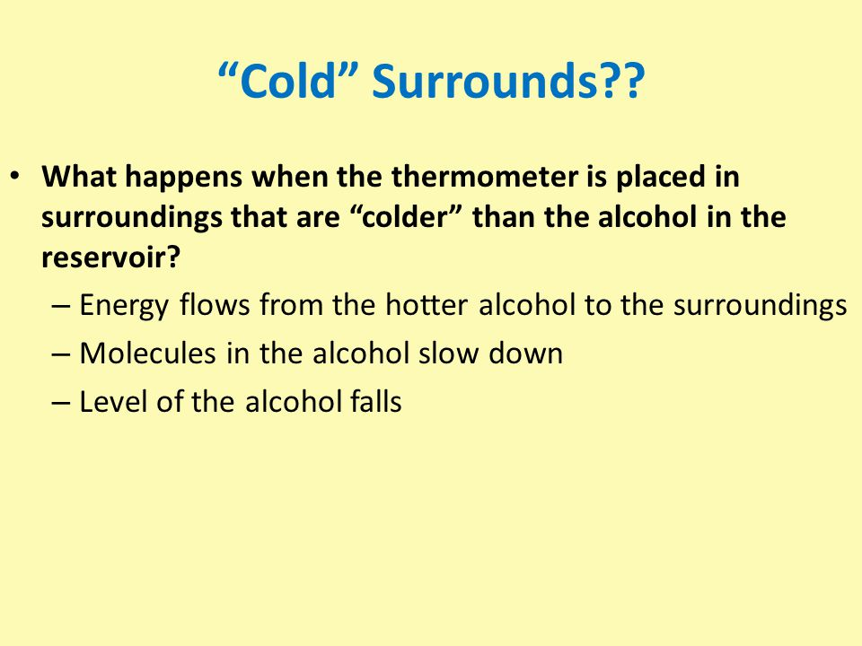 Cold Surrounds?.