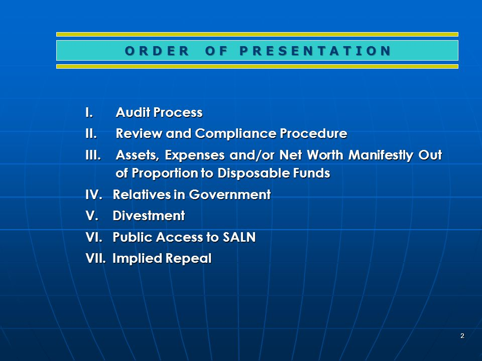 103 Office of the President Internal Audit Office 1.