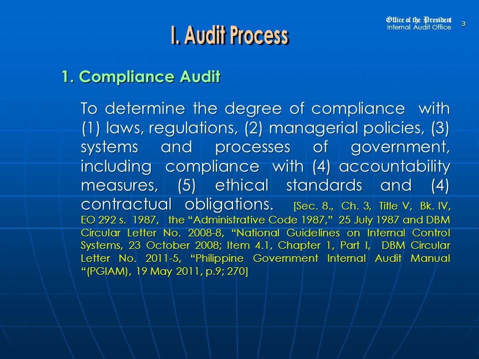 1.Assets to Disposable Fund Analysis Office of the President Internal Audit Office 134 1.24.