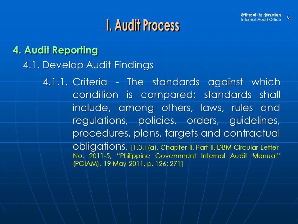 9 4.1.Develop Audit Findings 4.
