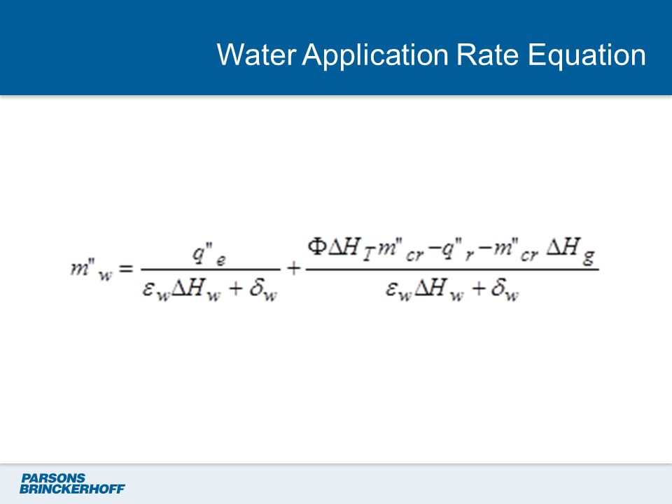 Water Application Rate Equation