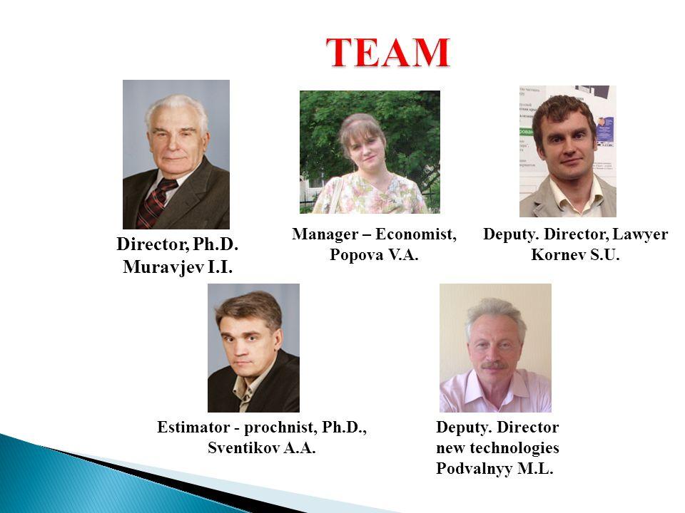 Director, Ph.D. Muravjev I.I. Manager – Economist, Popova V.A.