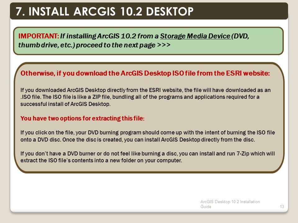 ArcGIS Desktop 10.2 Installation Guide13 7.