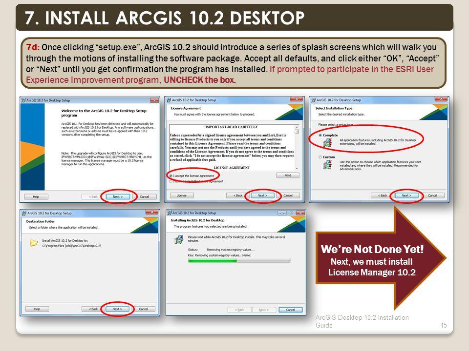 ArcGIS Desktop 10.2 Installation Guide15 7.