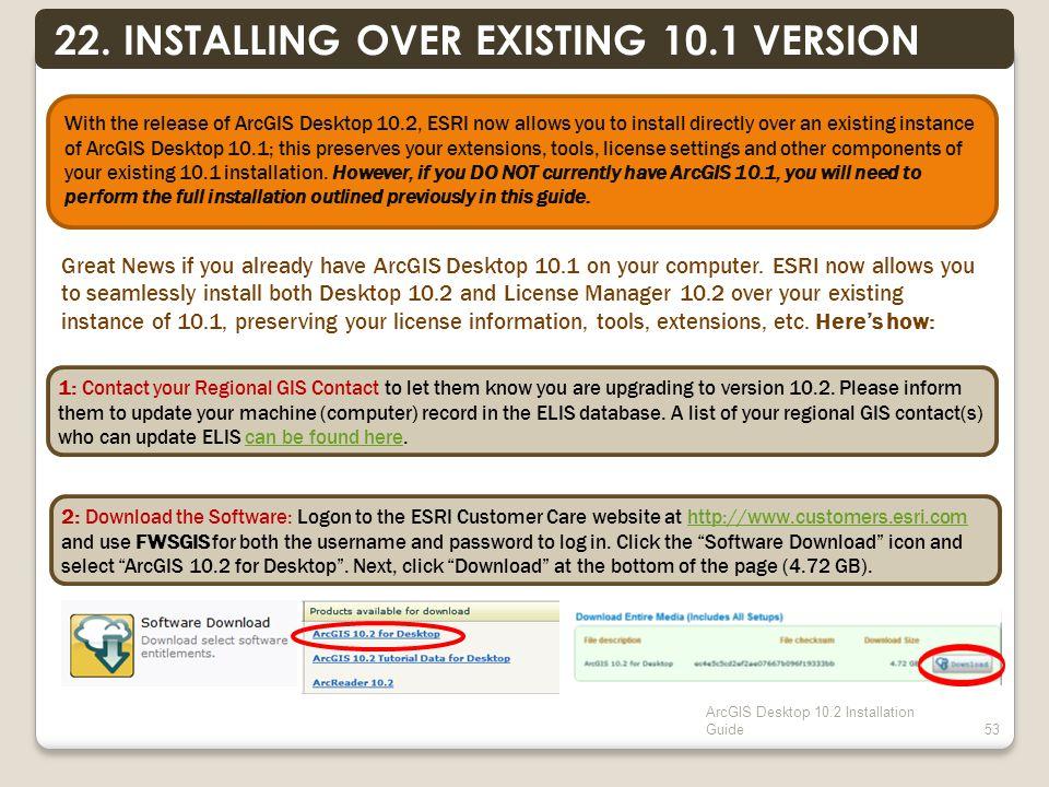 ArcGIS Desktop 10.2 Installation Guide53 22.